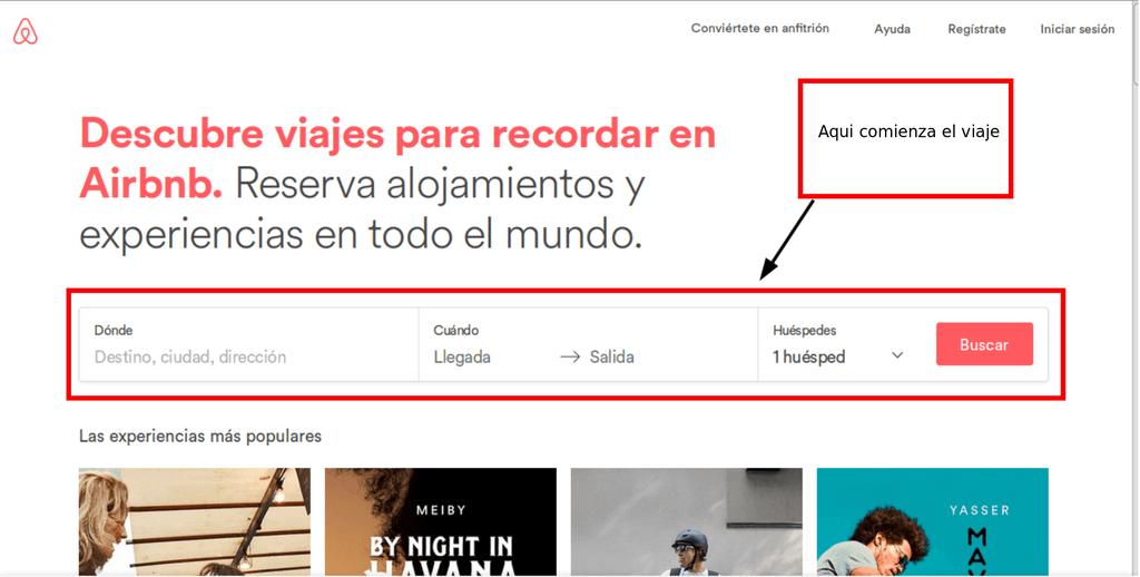 pagina-inicio Airbnb