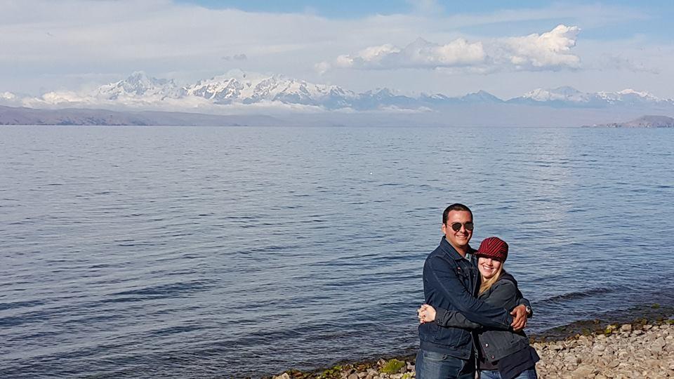 Vista desde la Isla de la Luna - lago titicaca