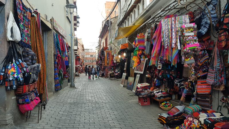 Calle Sagarnaga que ver en La Paz Bolivia