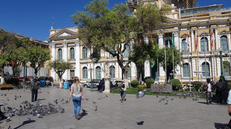 Plaza Murillo en La Paz