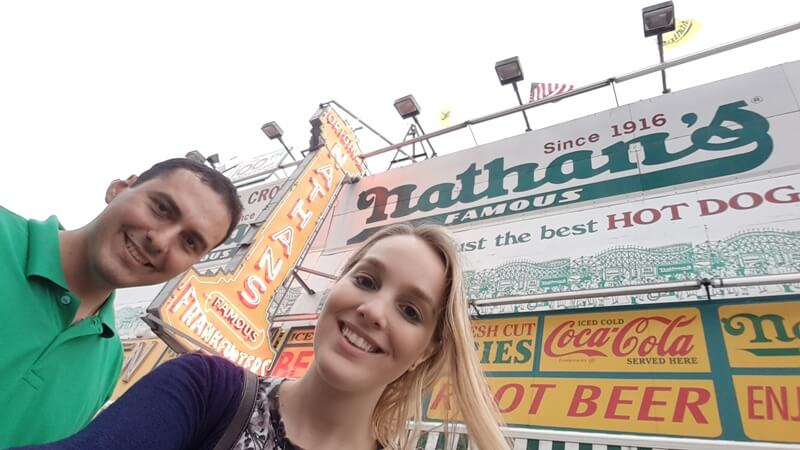 Nathans Hot Dog Nueva York