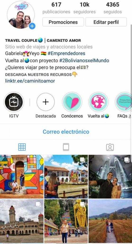 perfil ganar dinero con instagram