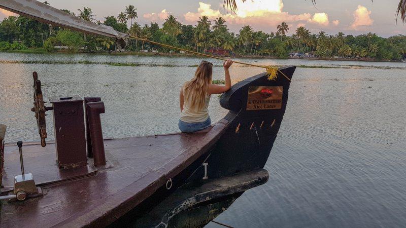 atardecer Kerala Backwaters