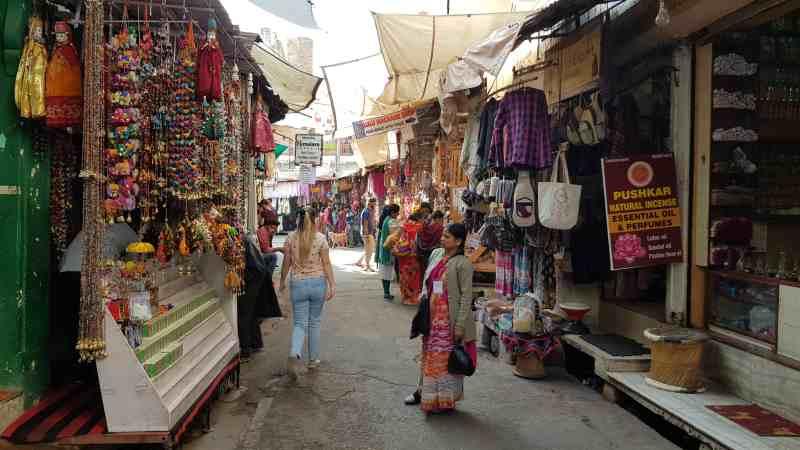 Bazar en Pushkar