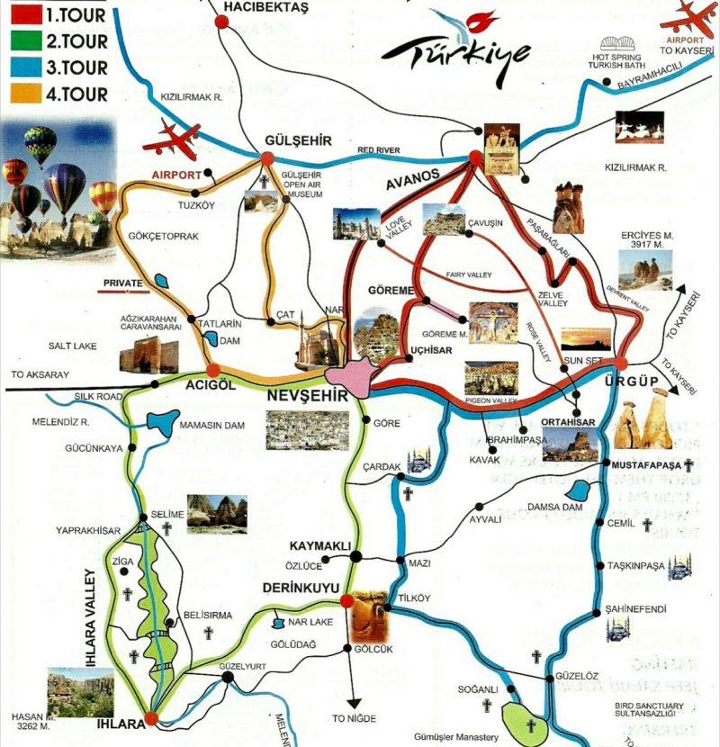 mapa Cappadocia