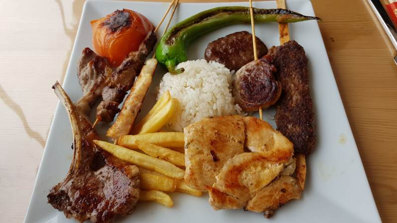 comida turca en Pamukkale
