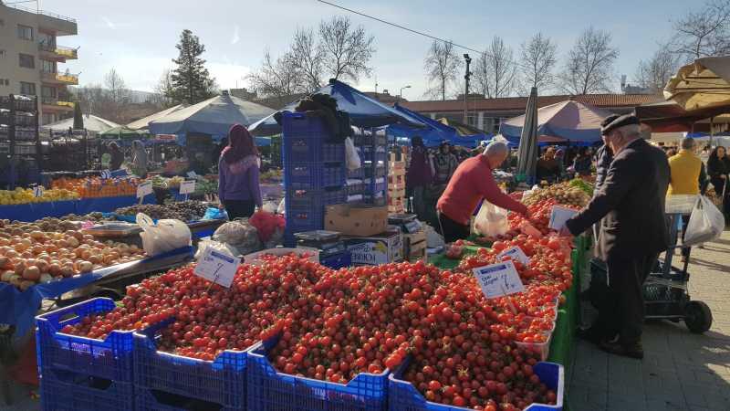 mercado local en Selcuk