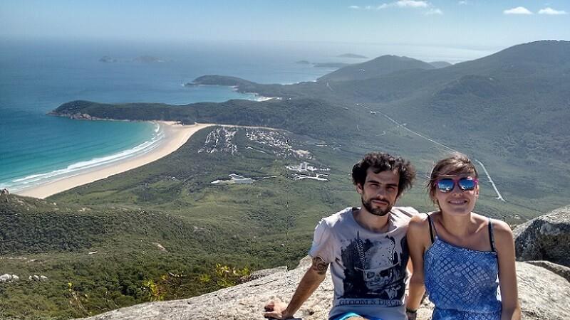 viaje a Australia en pareja Lorena y Haritz en Wilsons Promontory
