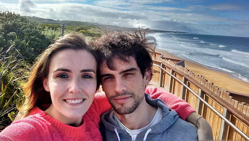 viaje a Australia en pareja Lorena y Haritz en la Great Ocean Road