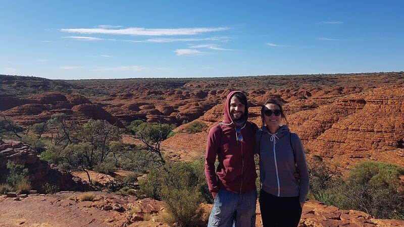 viaje a Australia en pareja en Kings Canyon