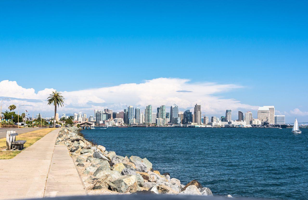 Vacaciones en San Diego, skyline California