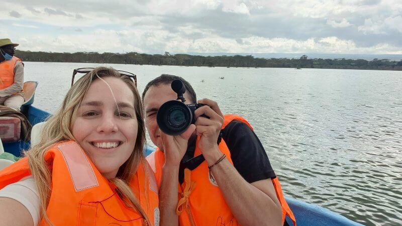 paseo en bote en el Lago Naivasha Kenia