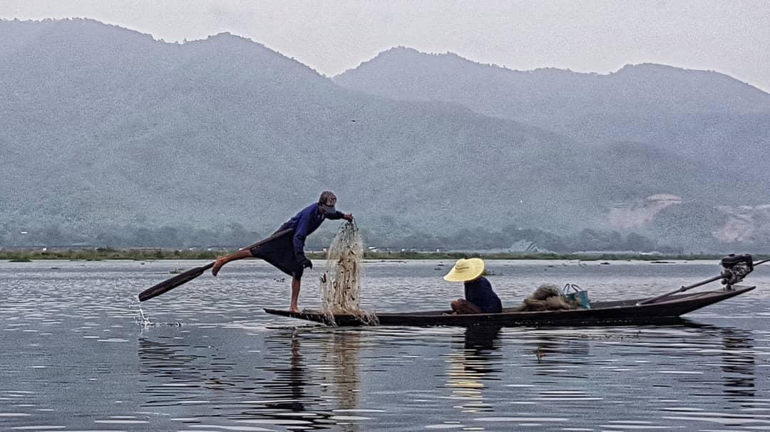 pescadores del lago Inle, que ver en Myanmar