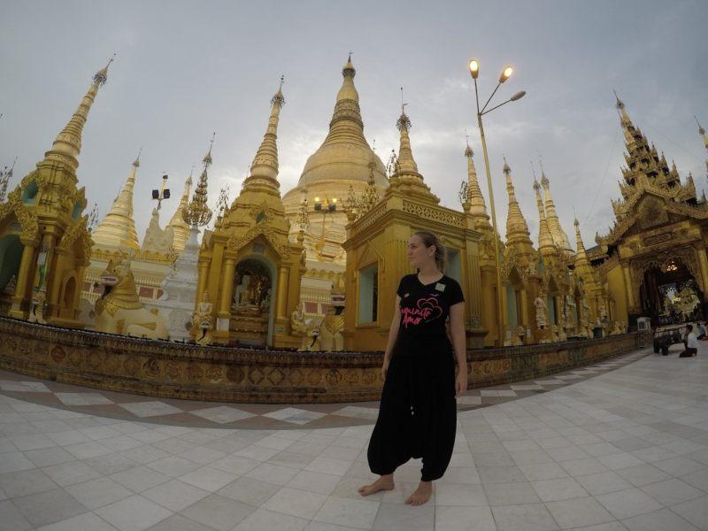 shwedagon pagoda la más importante de Myanmar